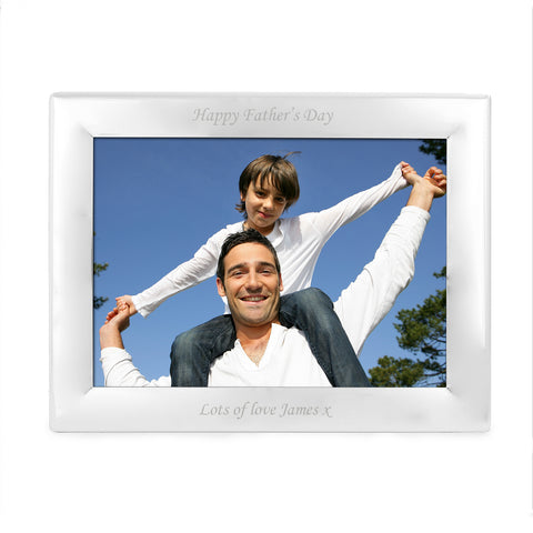 Personalised Silver Plated Photo Landscape Frame