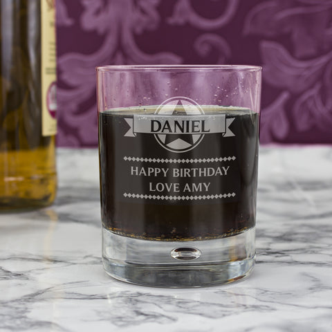 Personalised Diamond Bubble Glass Present