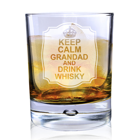 Personalised Keep Calm Bubble Glass Gift