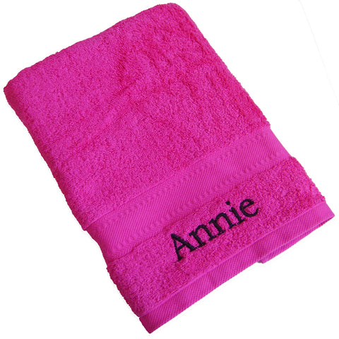 Personalised Bright Pink Hand Towel Gift