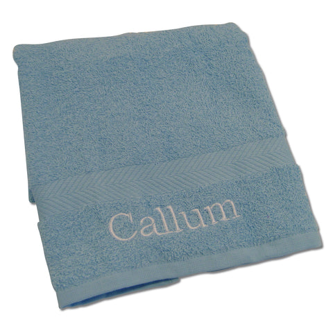 Personalised Baby Blue Hand Towel Gift
