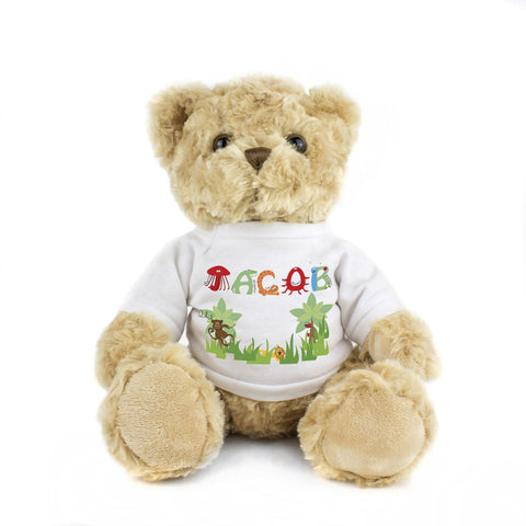 Personalised Animal Name T-Shirt Message Bear Gift