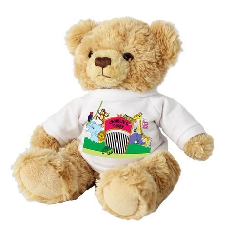 Personalised Zoo Message Bear Present