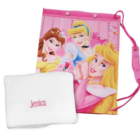 Personalised Princess Swim Bag and Personalised Towel Gift