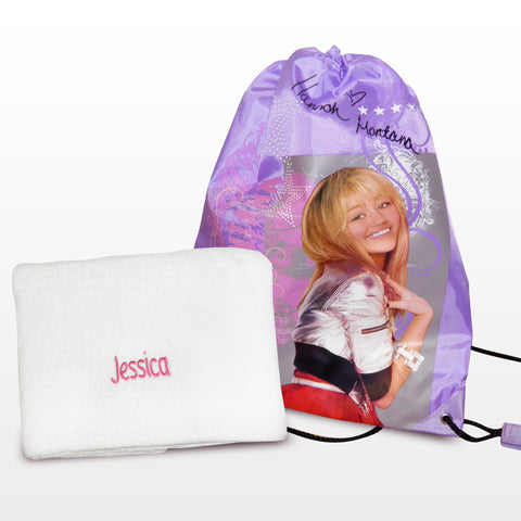 Personalised Hannah Montana Swim Bag and Personalised Towel Gift