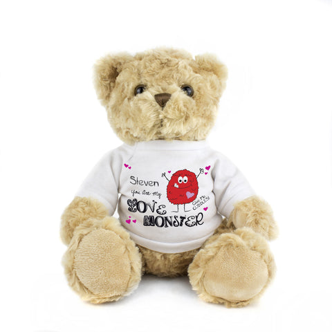 Personalised Love Monster Message Bear Gift