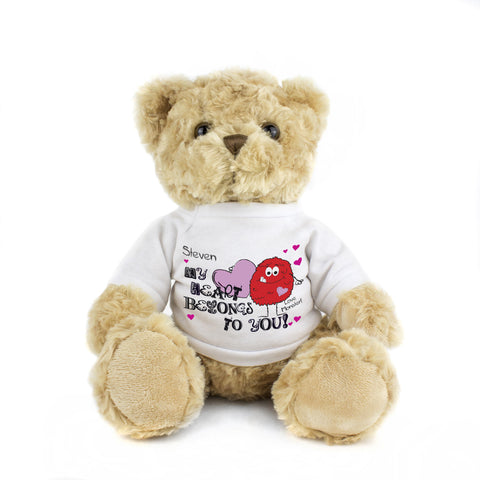Personalised Monster Heart Message Bear Gift
