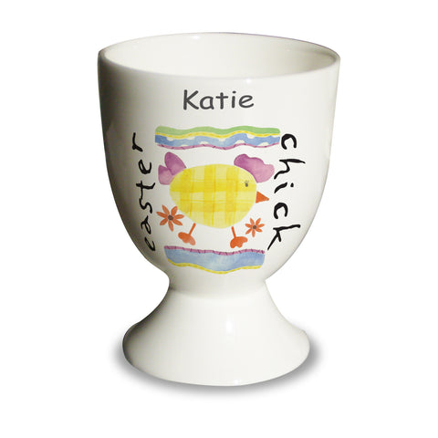 Personalised Easter Chick Egg Cup Gift