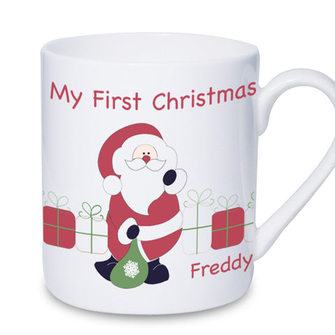Personalised Santa with Presents Mug Gift