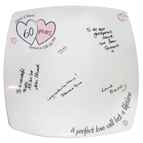 Personalised A Perfect Love Diamond Anniversary Message Plate