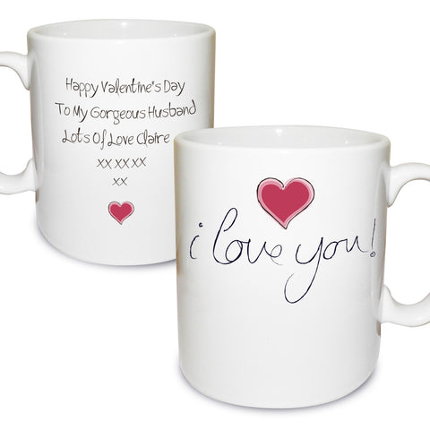Personalised I Love You Mug Present