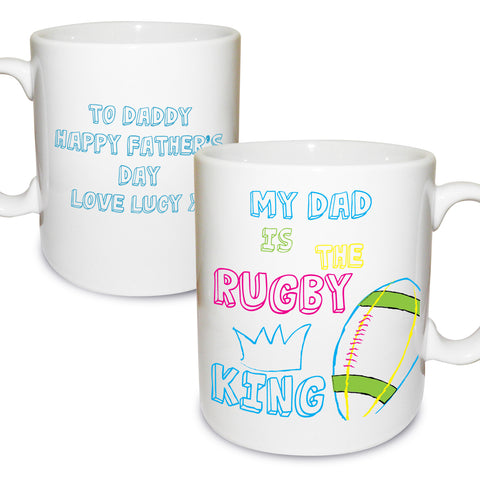 Personalised Rugby King Mug Gift