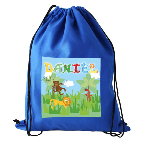 Personalised Animal Alphabet Boys Kit Bag Gift