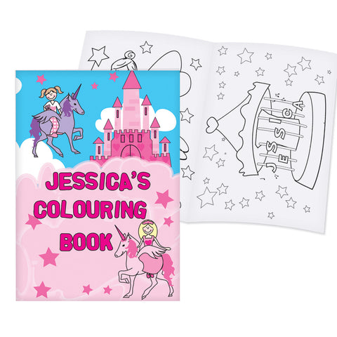 Personalised Princess Colouring Book Gift