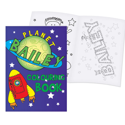 Personalised Space Colouring Book Present