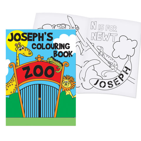 Personalised Zoo Colouring Book Gift