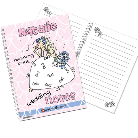 Personalised Bang on the Door Wedding Bride Notebook Gift