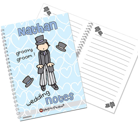 Personalised Bang on the Door Wedding Groom Notebook Gift
