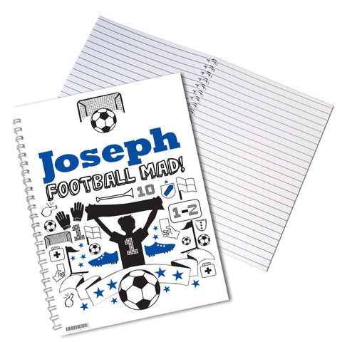 Personalised Football Notebook Gift