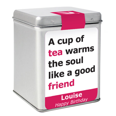 Personalised Good Friend Slogan Tea Gift