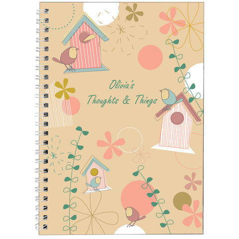 Personalised Spring Garden A5 Notebook Present