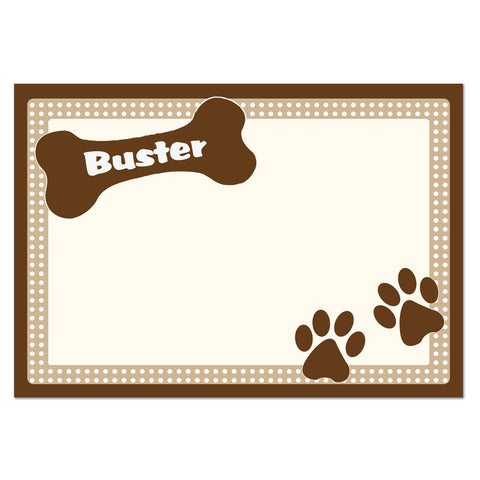 Brown Dotty Dog Placemat Gift