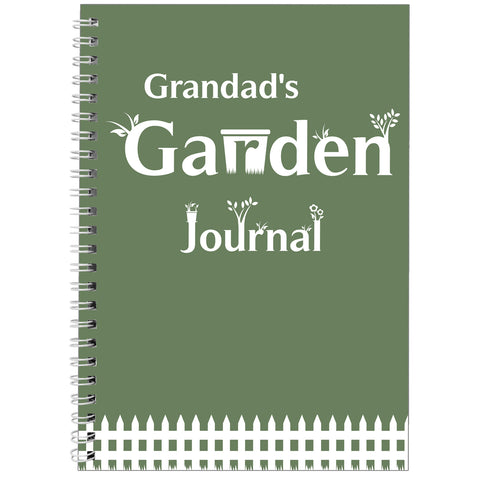 Personalised Garden Journal A5 Notebook Gift