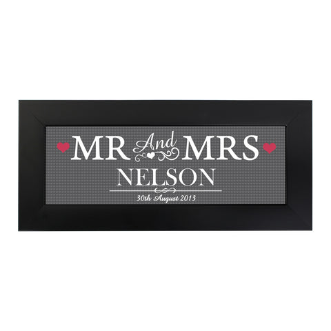 Personalised Mr and Mrs Print in Small Frame Gift