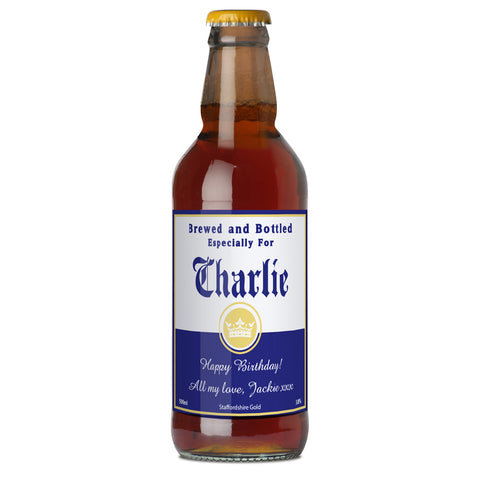 Personalised Brewed and Bottled For Beer Gift