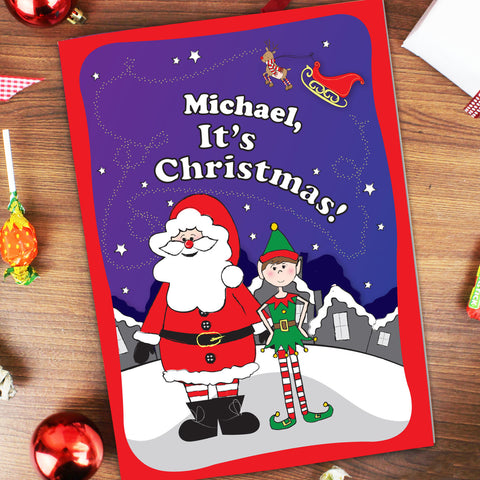 Personalised It's Christmas Elf Book Gift