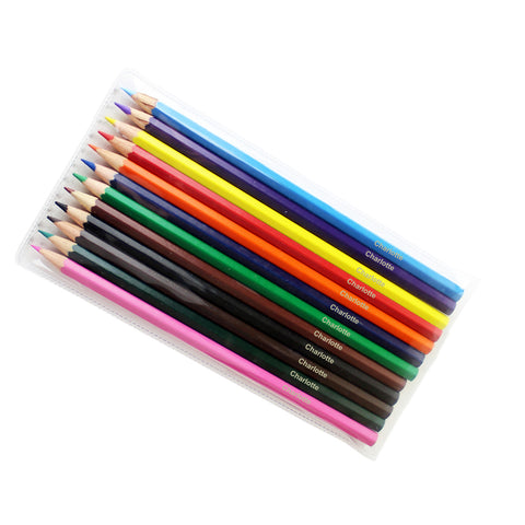 Personalised Pack of 12 Colouring Pencils Gift