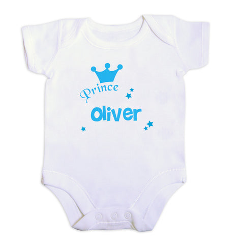 Personalised Prince Baby Vest Present