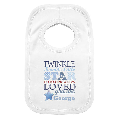 Twinkle Boys 0-3 Months Baby Bib Gift