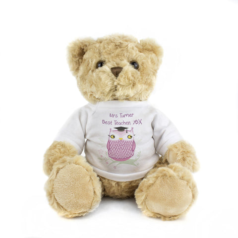 Personalised Miss Owl Message Bear Gift