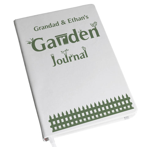 Personalised Garden Journal Hardback A5 Notebook Gift