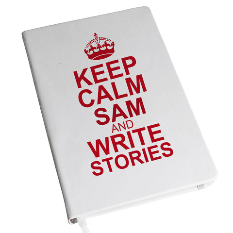 Personalised Keep Calm Hardback A5 Notebook Gift