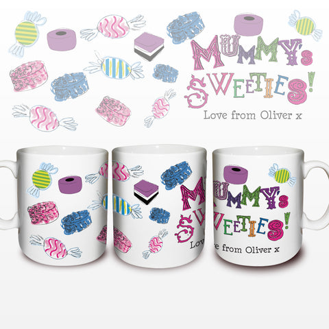 Personalised Mummy's Sweeties Mug Gift