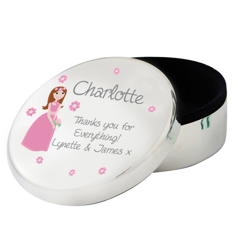 Personalised Fabulous Wedding Round Trinket Box Gift