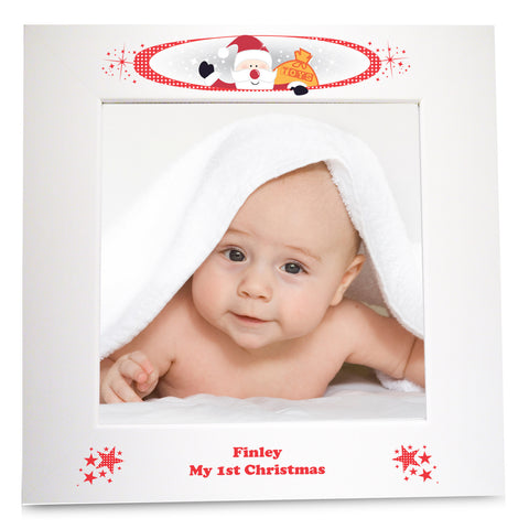 Personalised Christmas White 6x4 Frame Gift