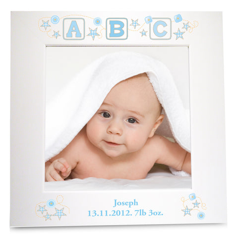 Personalised Blue ABC White Frame Gift