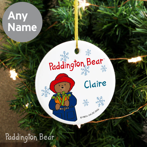 Personalised Paddington Bear Christmas Decoration