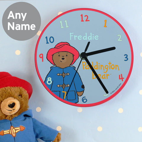 Personalised Paddington Bear Clock