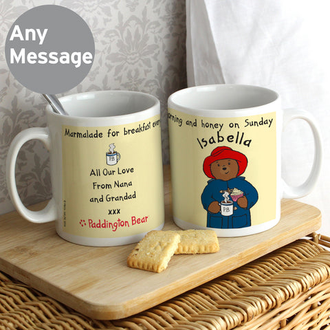 Personalised Paddington Bear Breakfast Mug