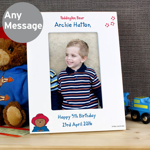 Personalised Paddington Bear Photo Frame