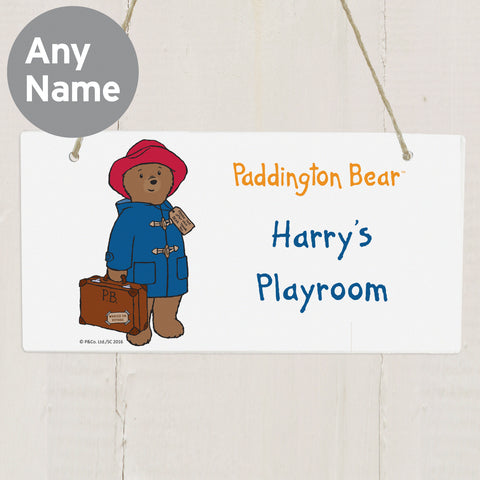 Personalised Paddington Bear Wooden Sign
