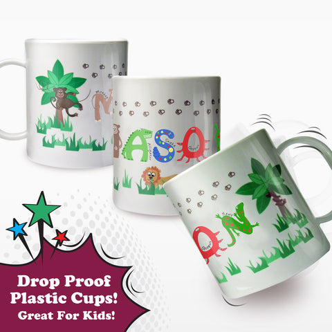 Personalised Animal Alphabet Plastic Cup Gift