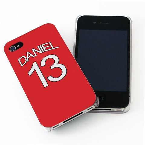 Personalised Arsenal Style Shirt iPhone Case Gift