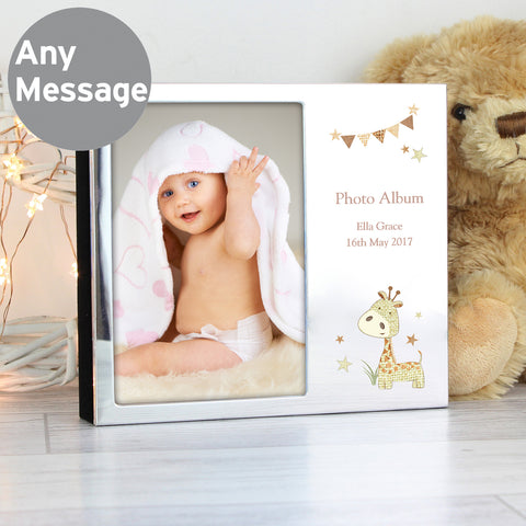 Personalised Hessian Giraffe Frame Photo Album