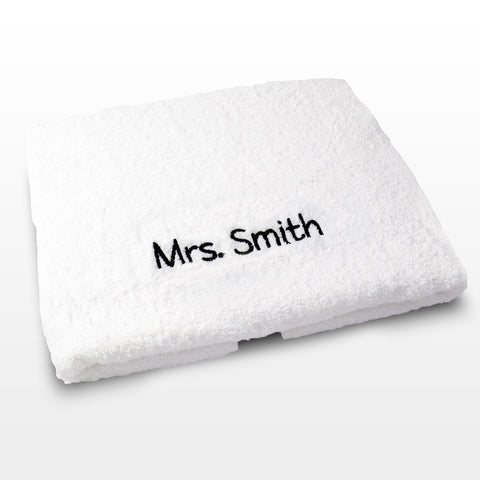 Personalised White Bath Towel Present