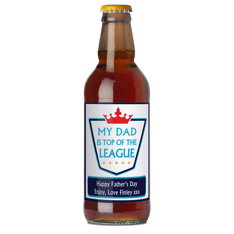Personalised Top of the League Beer